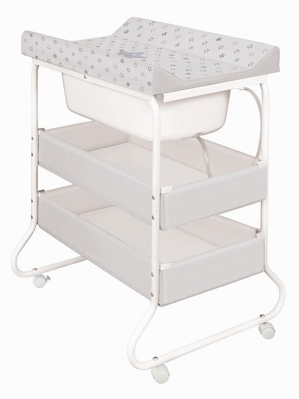 baby changing unit station with bath tub changing mat nappy storage like cosatto. Black Bedroom Furniture Sets. Home Design Ideas