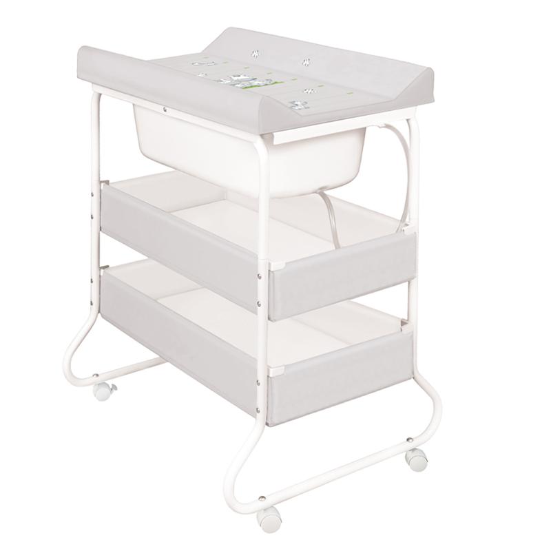 baby wickeltisch mit wickelauflage badewanne gestell wickelkommodel zebra ebay. Black Bedroom Furniture Sets. Home Design Ideas