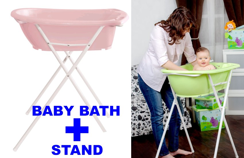 high quality anatomical baby bath tub hippo white with stand an. Black Bedroom Furniture Sets. Home Design Ideas