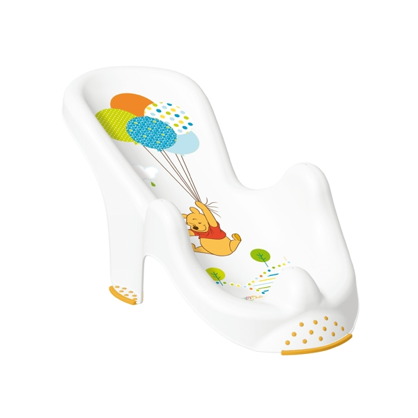 anatomic baby bath chair tub seat winnie the pooh white okt kids brand new ebay. Black Bedroom Furniture Sets. Home Design Ideas